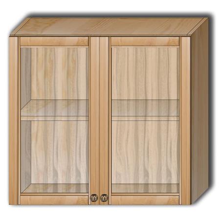 Кухня «Гретта» - Шкаф настенный Шк80 со стеклом