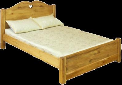 «Pin Magic». Кровать двуспальная LCOEUR 120 PB с низким изножьем