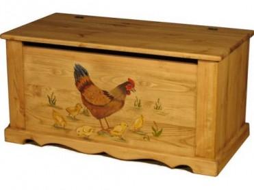 «Pin Magic». Сундук 100 с росписью «Курица с цыплятами».
