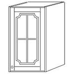 Шкаф навесной 50 стекло выс 71см