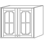Шкаф навесной 80 стекло выс 71см