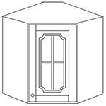 Шкаф угловой 60*60 стекло выс 71 см