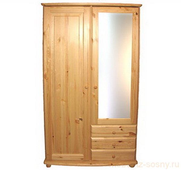 Шкаф Фалько-1 с зеркалом МД 848-01