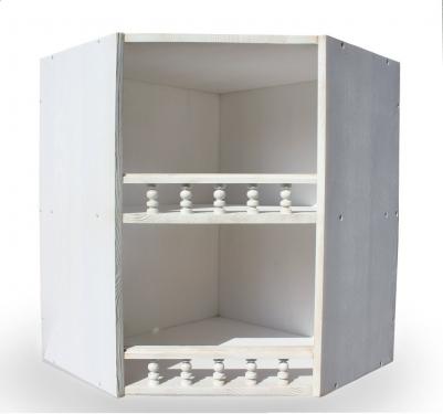 Шкаф настенный угловой «Викинг GL» №11 браш