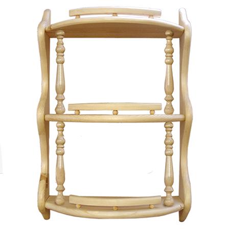 Полка прямая 3-ая (с балясинами) (42 см)