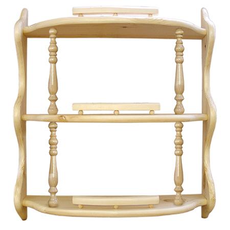 Полка прямая 3-ая (с балясинами) (60 см)